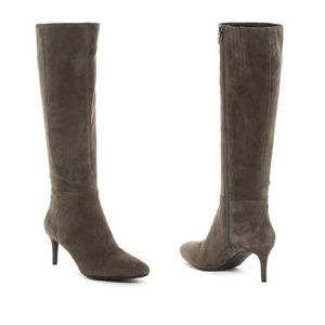 VIA SPIGA Anja Gray Suede Leather Tall Boots